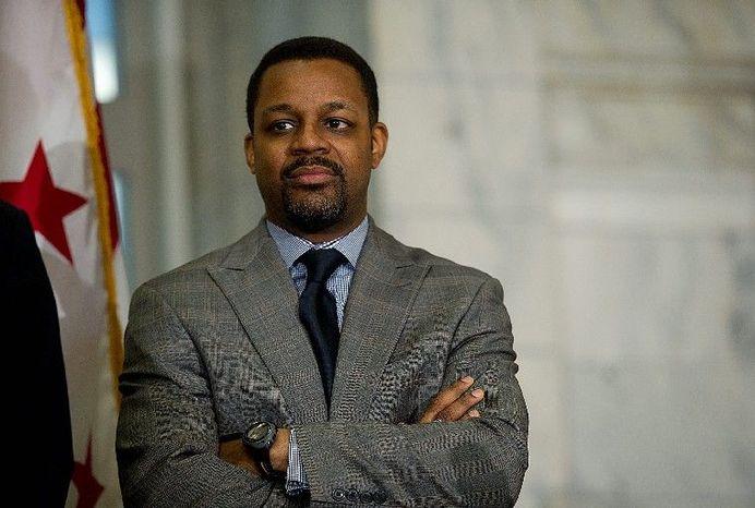 D.C Council Chairman Kwame R. Brown. (Barbara L. Salisbury/The Washington Times)