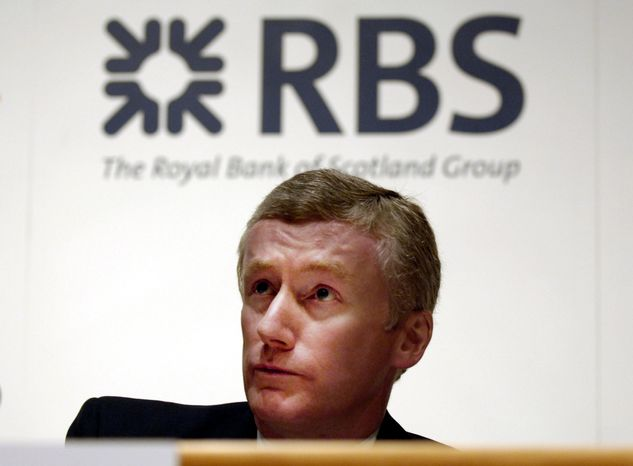 ** FILE ** Former Royal Bank of Scotland CEO Fred Goodwin, pictured in 2007, has been stripped of his knighthood by the British government. (AP Photo /Danny Lawson, File)