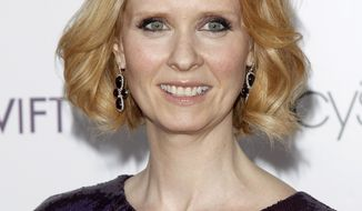 **FILE** Actress Cynthia Nixon attends the Designing Women Awards in New York on May 25, 2010. (Associated Press)