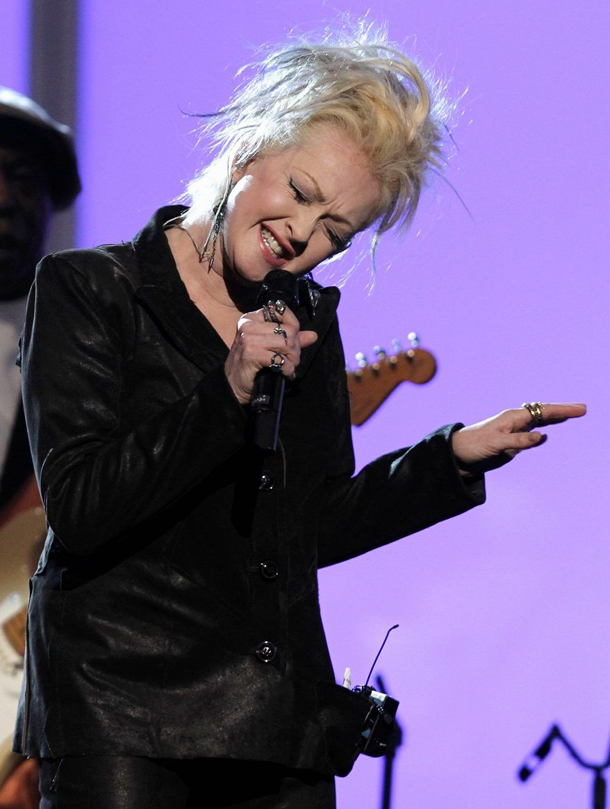 Cyndi Lauper performs during the pre-telecast at the 53rd annual Grammy Awards on Sunday, Feb. 13, 2011, in Los Angeles. (AP Photo/Matt Sayles)
