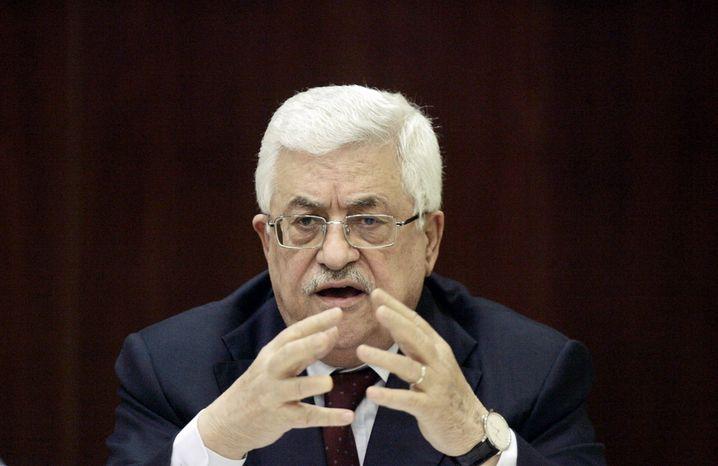 ** FILE ** Palestinian Authority President Mahmoud Abbas. (Associated Press)