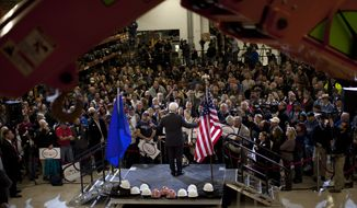 Republican presidential candidate and former House Speaker Newt Gingrich speaks Feb. 2, 2012, at Xtreme Manufacturing in Las Vegas. (Associated Press)