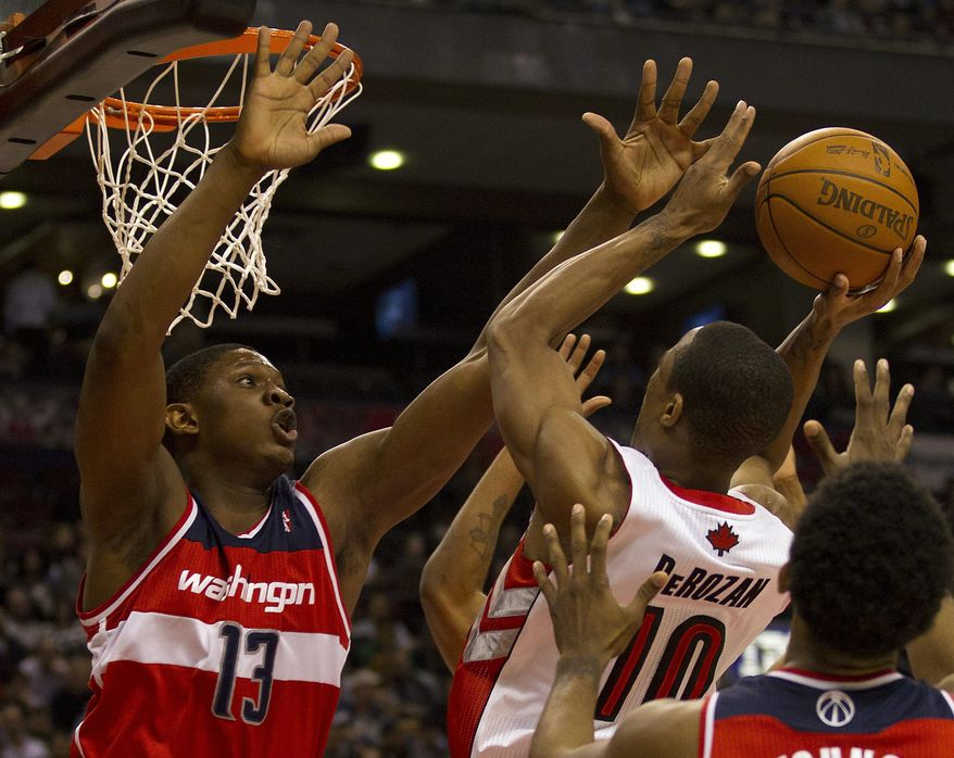 ** FILE ** Washington Wizards forward Kevin Seraphin (AP Photo/The Canadian Press, Frank Gunn)