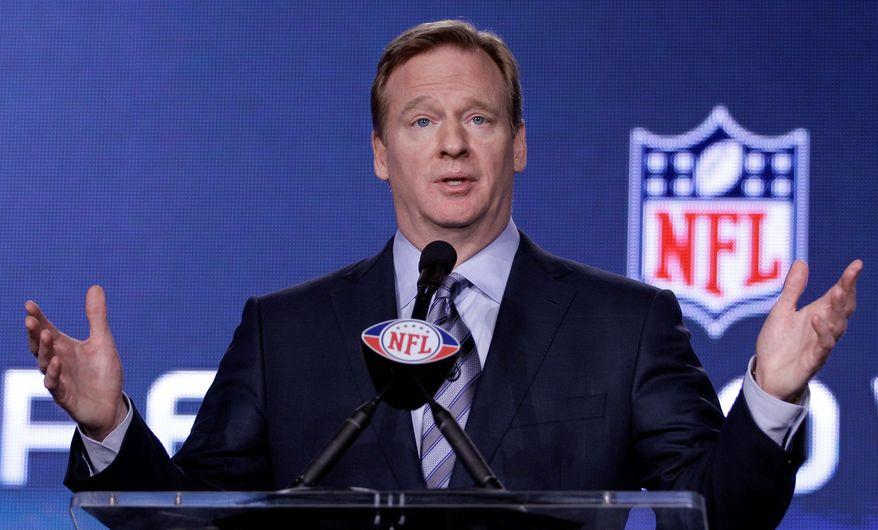 ** FILE ** NFL commissioner Roger Goodell (Associated Press)
