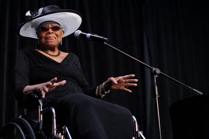 ** FILE ** Poet Maya Angelou. (Charlotte Observer via Associated Press)