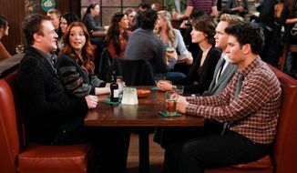 """How I Met Your Mother"" stars (from left) Jason Segel, Alyson Hannigan, Cobie Smulders, Neil Patrick Harri, and Josh Radnor. The CBS show debuted in 2005. (CBS via Associated Press)"