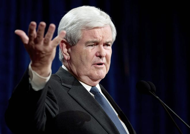 In debates, Newt Gingrich has stressed he was not lobbying when he created his business and rented space on the K Street corridor. (Associated Press)