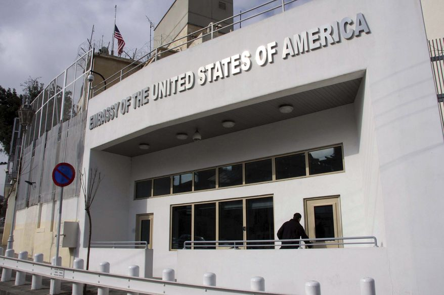 The Obama administration closed the U.S. Embassy in Damascus, Syria, and pulled all American diplomats out of the country on Monday, Feb. 6, 2012. (AP Photo/Bassem Tellawi)