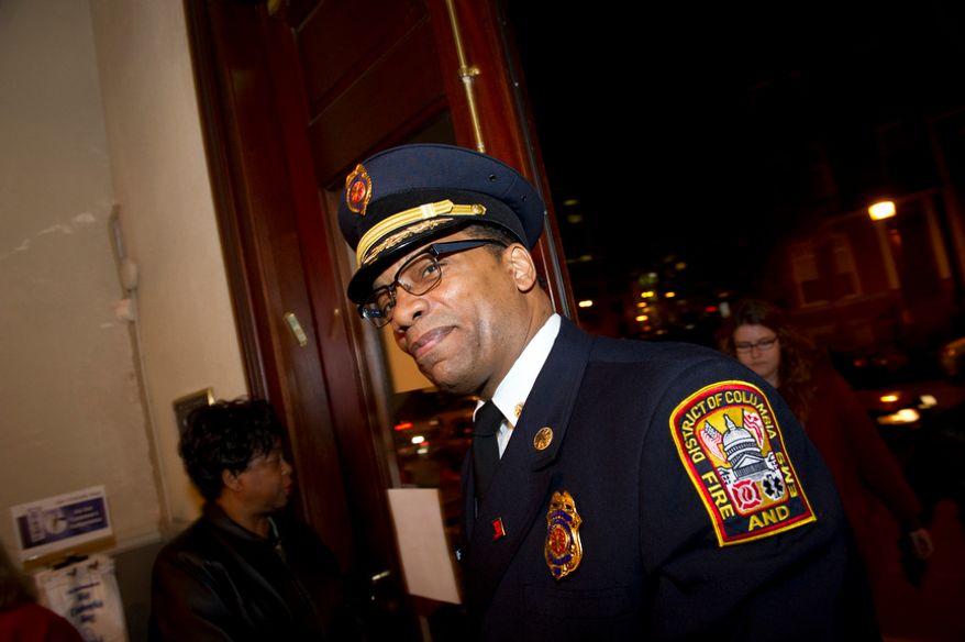 ** FILE ** Washington D.C. Fire and Emergency Medical Services Chief Kenneth B. Ellerbe (Rod Lamkey Jr/ The Washington Times)