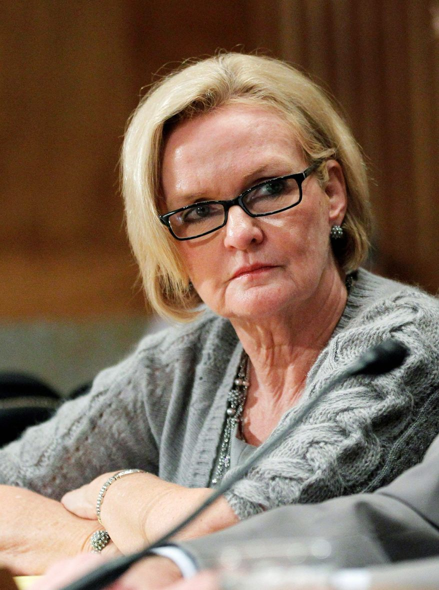 """""""We have rules about tax credits and benefits, and it seems to me they need to be applied fairly and across the board,"""" said Sen. Claire McCaskill, Missouri Democrat. """"If there are rules, they need to be enforced. I think it's just that simple. I don't think it's complicated."""" (Associated Press)"""