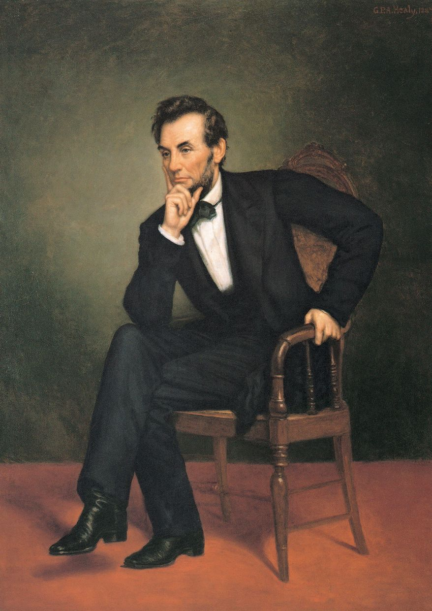 Abraham Lincoln's portrait artist, George P.A. Healy, used photograph technology that was new at the time. (Photograph provided by the National Portrait Gallery)