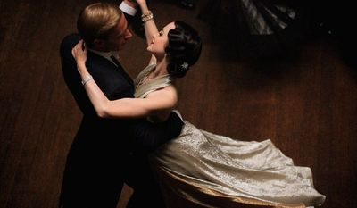 """Edward VIII (James D'Arcy) and Wallis Simpson (Andrea Riseborough) trip the light fantastic in Madonna's """"W.E."""" (The Weinstein Co.)"""