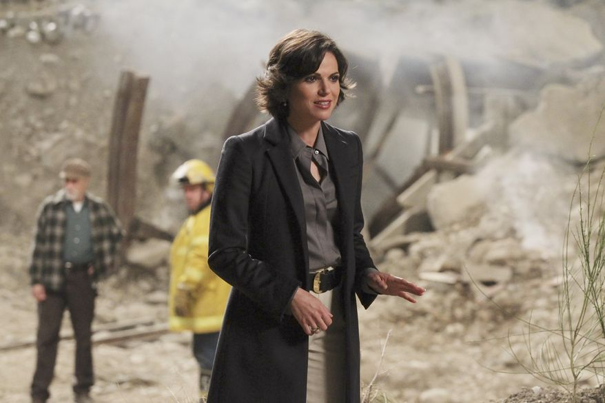 "In this image released by ABC, Lana Parrilla is shown in a scene from ""Once Upon a Time."" Parrilla plays dual roles on the fantasy drama; as the Evil Queen and Regina, the heartless mayor of Storybrooke. (AP Photo/ABC, Jack Rowand)"