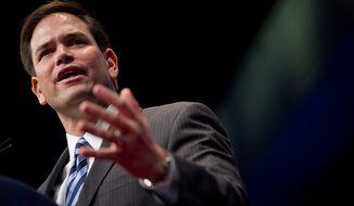 ** FILE ** Sen. Marco Rubio, Florida Republican (Andrew Harnik/The Washington Times)