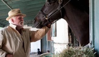 "** FILE ** Nick Nolte stars with Dustin Hoffman in ""Luck."" HBO is defending its treatment of horses used in the racetrack drama after two of the animals died during production. (HBO via Associated Press)"