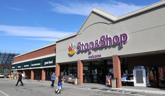 The winning ticket in a $336.4 million Powerball jackpot was purchased at this Stop & Shop supermarket in Newport, R.I. (AP Photo/The Daily News, Dave Hansen)