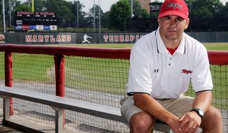 Maryland baseball coach Erik Bakich wants his team to think College World Series despite the Terrapins not appearing in the NCAA tournament since 1971. Maryland was 21-35 last season in Bakich's second year. (The Washington Times)