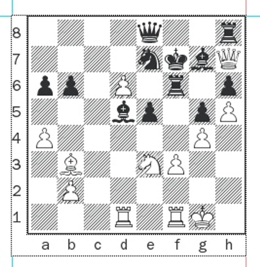 Skripchenko-Fressinet after 33...Bd5.