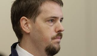 ** FILE ** Josh Powell, the husband of missing Utah woman Susan Powell, listens during a court hearing regarding the custody of his two sons on Wednesday, Sept. 28, 2011, in Tacoma, Wash. (AP Photo/Ted S. Warren, File)