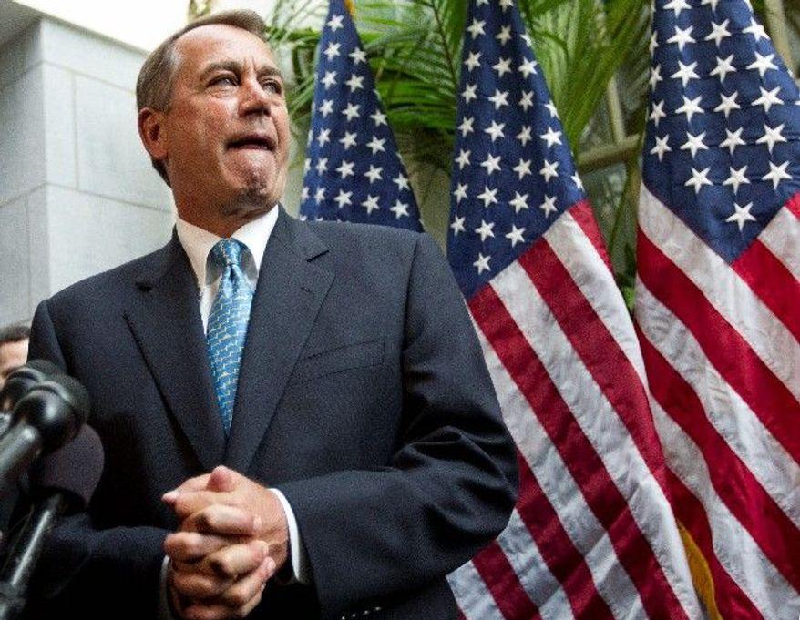 House Speaker John A. Boehner (AP photo)