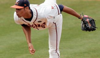 Virginia's Branden Kline finished last season with a 1.88 ERA and 18 saves. (Virginia Athletics)