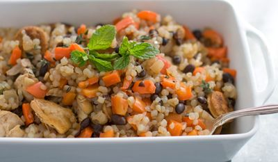 Rocco Dispirito's downsized version of jambalaya has all the flavor of the classic Cajun dish, but a lot fewer calories, thanks in part to the ricelike Miracle Rice. (Associated Press)