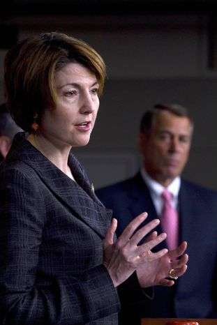 ** FILE ** Rep. Cathy McMorris Rodgers of Washington state. (Associated Press)