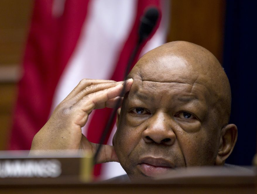 ** FILE ** Rep. Elijah Cummings of Maryland, ranking Democrat on the House Committee on Oversight and Government Reform. (AP Photo/Carolyn Kaster)