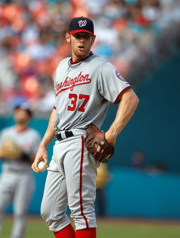 Washington Nationals right-hander Stephen Strasburg says he is good to go, 17 months removed from elbow-ligament reconstruction surgery. (Associated Press)