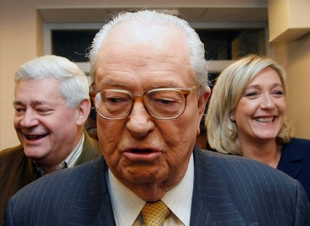 """Jean-Marie Le Pen used his oratory skills to denounce the """"decadence"""" of French society, promote an anti-immigration """"French first"""" agenda and try to cast doubt upon the Holocaust. (Associated Press)"""