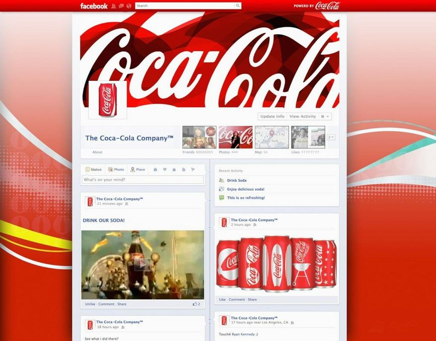Coca-Cola is a brand that analysts say should benefit from switching to Facebook's more visually friendly Timeline format. Smaller companies might find the change, coming by the end of the month, more challenging. (mashable.com)