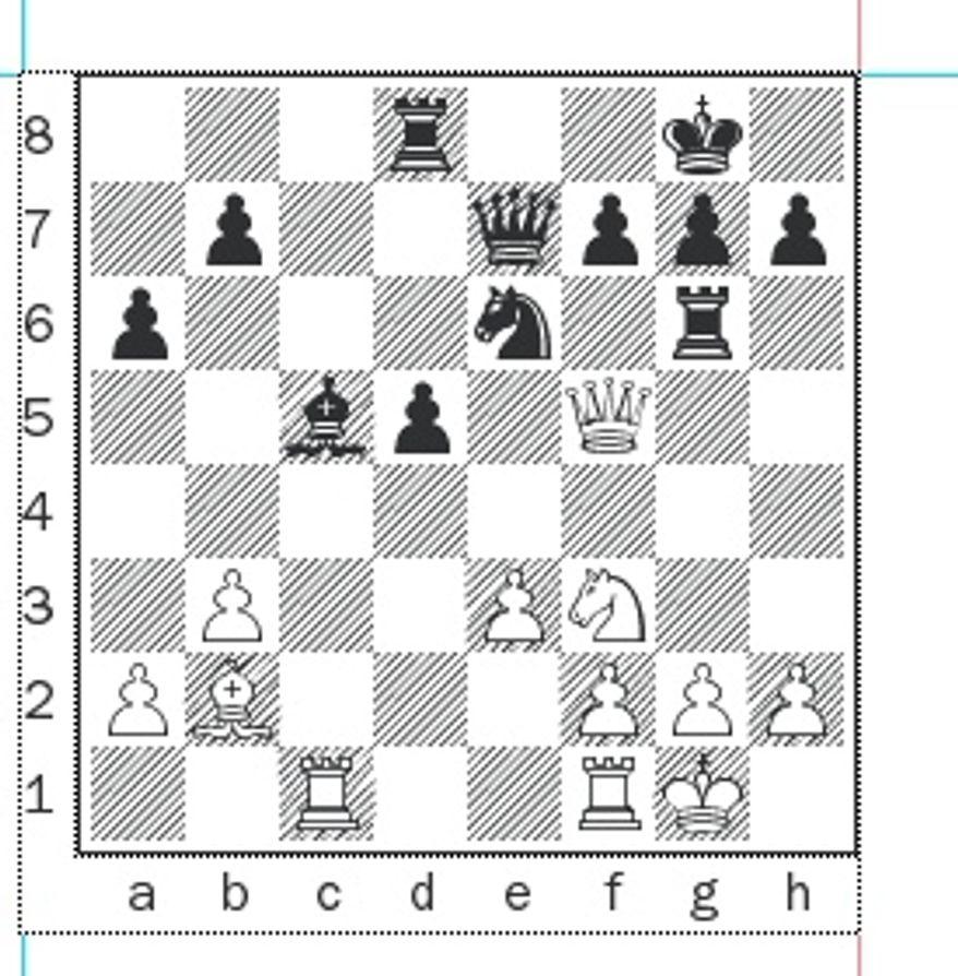 Aleksandrov-Gundavaa after 22. Nd4-f3.