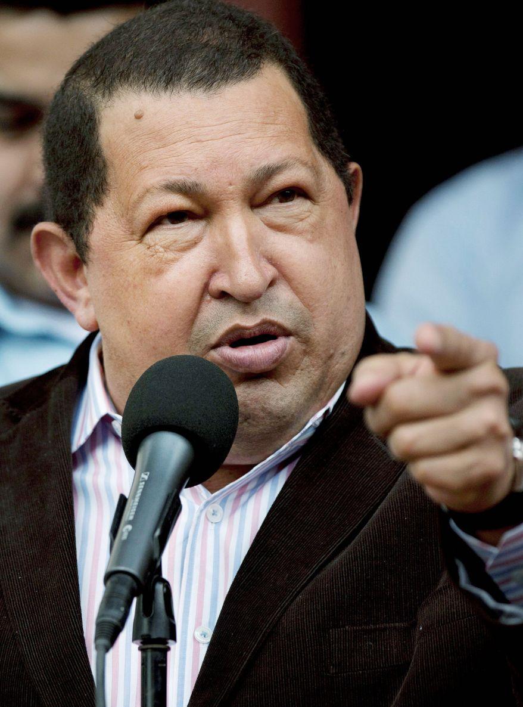 "Venezuelan President Hugo Chavez said the ""imperialist"" British have designs on the Falklands' oil resources. (Associated Press)"