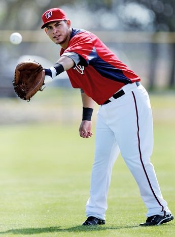 **FILE** Nationals catcher Wilson Ramos is shown in spring training 2012 in Viera, Fla. (Associated Press)
