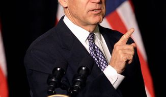"Vice President Joseph R. Biden is on the ""road"" again, this time to Rhode Island, after a misspelling on his itinerary was corrected. (Associated Press)"