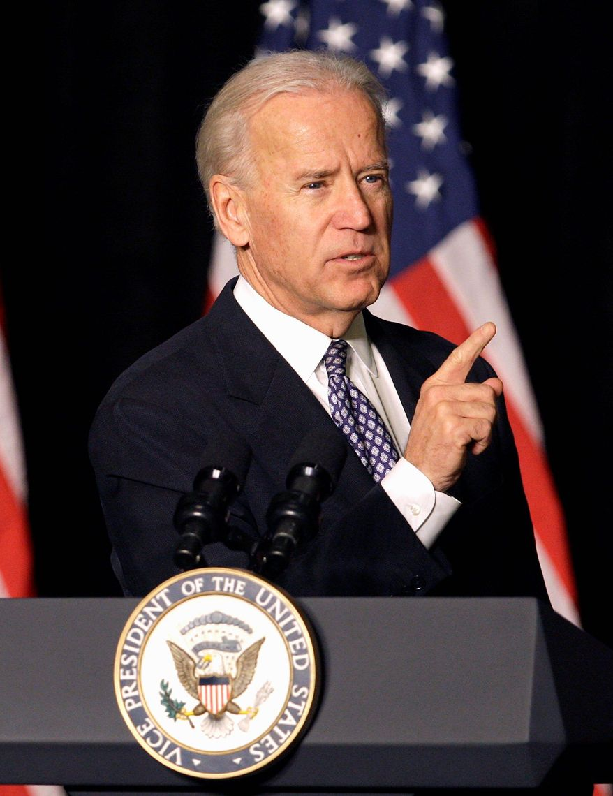 """Vice President Joseph R. Biden is on the """"road"""" again, this time to Rhode Island, after a misspelling on his itinerary was corrected. (Associated Press)"""
