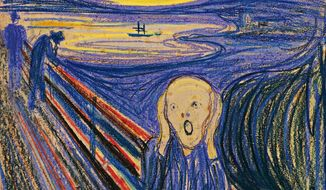 "One of four versions of ""The Scream"" by Norwegian painter Edvard Munch will go up for auction at Sotheby's in New York on Wednesday, May 2, 2012. (AP Photo/Sotheby's)"