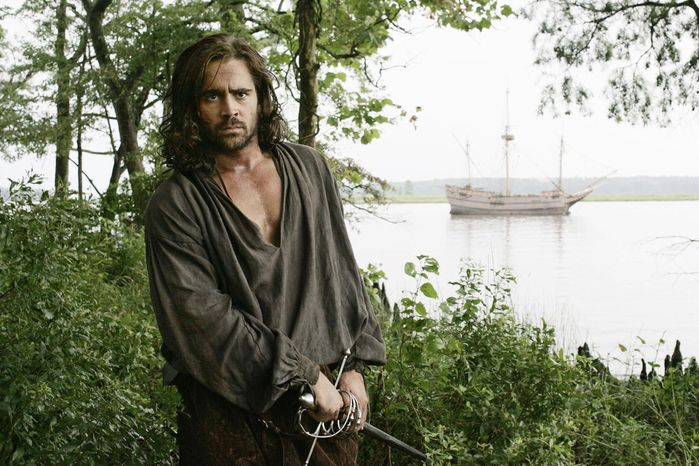 "Colin Farrell portrays Captain John Smith in Terrence Malick's 2005 film, ""The New World."" (New Line Productions via Associated Press)"