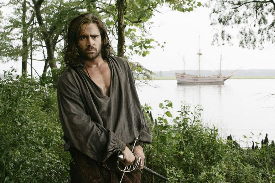 """Colin Farrell portrays Captain John Smith in Terrence Malick's 2005 film, """"The New World."""" (New Line Productions via Associated Press)"""
