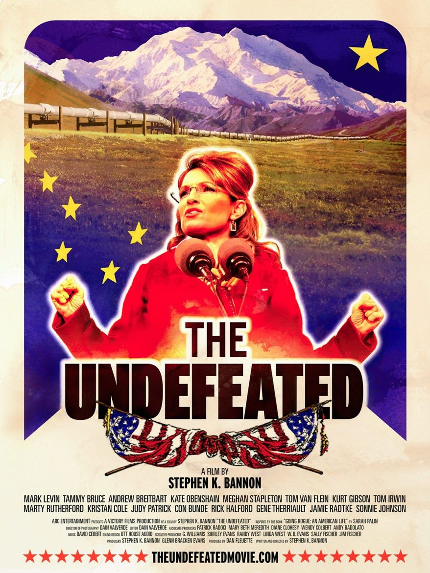 """The Undefeated"", a two-hour documentary on Sarah Palin's political career, will air March 11 on the Reelz Network, one day after HBO debuts ""Game Change,"" a film dramatizing the 2008 presidential election."