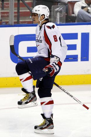 Washington Capitals captain Alex Ovechkin has 24 goals and 45 points this season. (AP Photo/Alan Diaz)