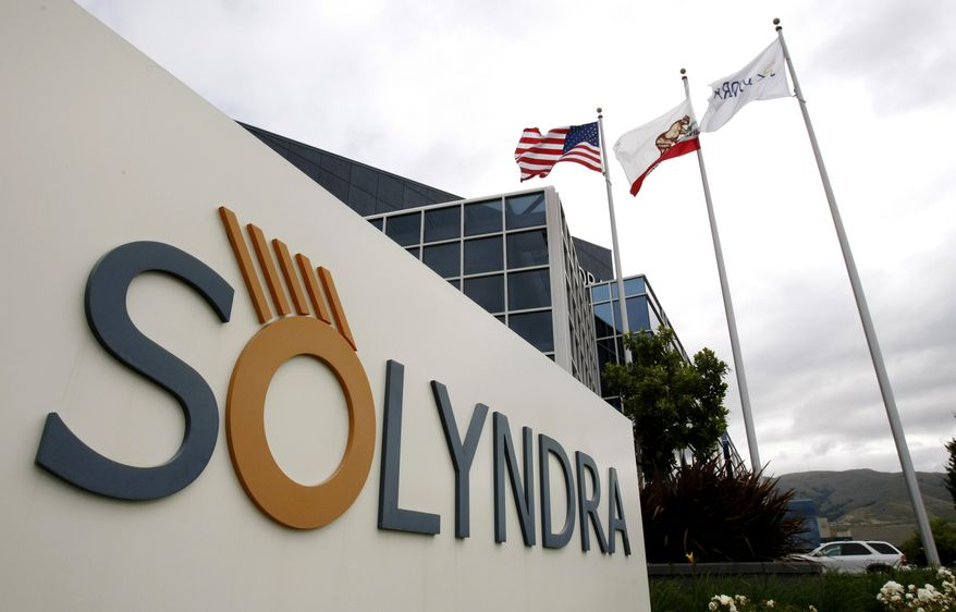 The headquarters of Solyndra Inc. in Fremont, Calif., are shown in May 2010. (AP Photo/Paul Sakuma)