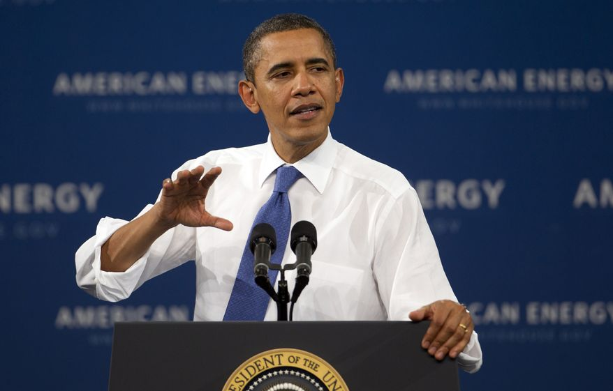 President Obama speaks Feb. 23, 2012, to students at the University of Miami in Coral Gables, Fla. (Associated Press)