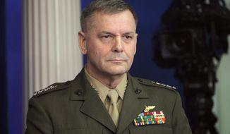 **FILE** Retired Marine Corps Gen. James E. Cartwright (Associated Press)