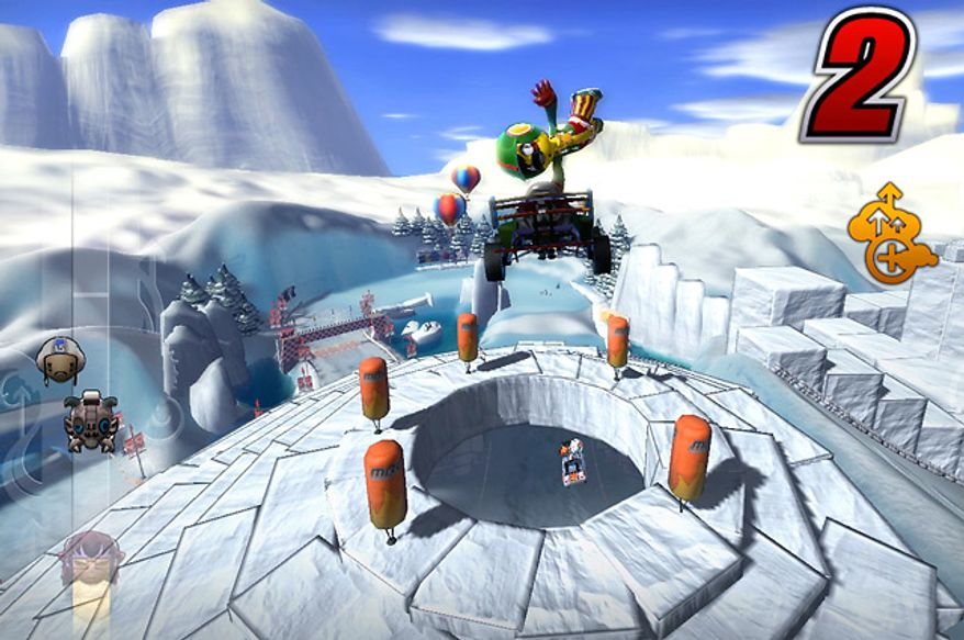 Action from the game ModNation Racers: Road Trip, available for Sony's PS Vita.