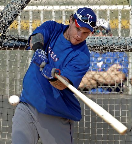 Former AL MVP Josh Hamilton is eligible for free agency after this season if he does not sign a new deal with Texas. (Associated Press)