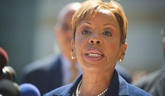 Former Prince George's County lawmaker Leslie Johnson has been asked by federal prosecutors to pay a $15,000 fine before she begins her prison term March 9. (Rod Lamkey Jr./The Washington Times)