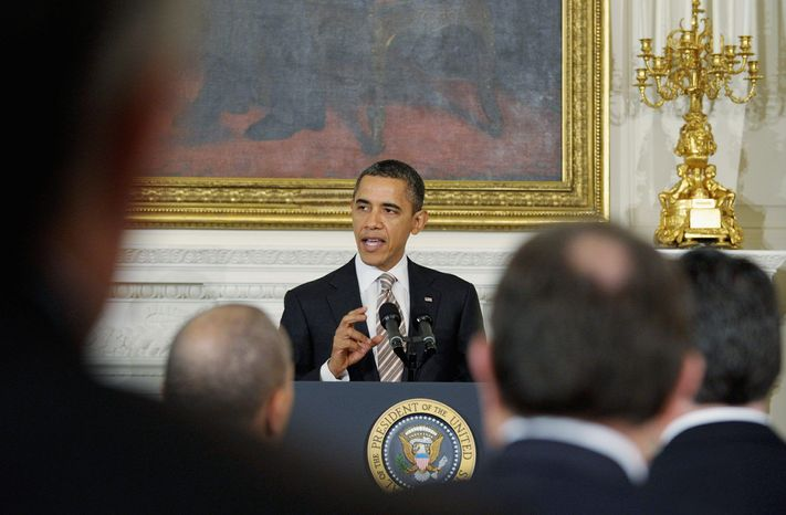 President Obama told his audience at a gathering of the National Governors Association at the White House Monday that higher education includes a community college degree for a skilled manufacturing job and not just a four-year degree. (Associated Press)