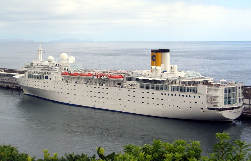 The Costa Allegra cruise ship is docked at Genoa, Italy, in this undated photo. (AP Photo/Tano Pecoraro)