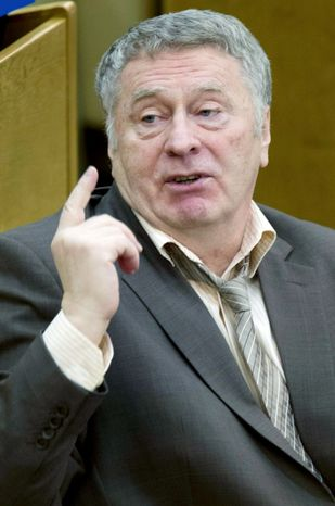 Vladimir Zhirinovsky, an ultraright nationalist, is one of Russian Prime Minister Vladimir Putin's three main foes in Sunday's presidential election. (Associated Press)